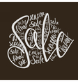 shopping lettering sale vector image