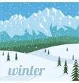 Winter landscape tourism background vector image