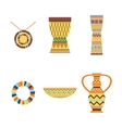 African drums and vase vector image vector image
