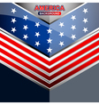 america geometric backgrounds template vector image vector image