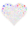 arrow direction fireworks heart vector image vector image