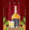 best drink with cup alcoholic vector image