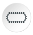 Bike chain icon flat style vector image vector image