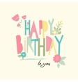 Birthday card with unusual letters vector image vector image