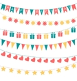 Birthday garlands vector image vector image