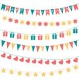 Birthday garlands vector image