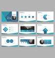 blue abstract presentation templates infographic vector image vector image