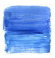 blue acrylic texture painted brush stroke vector image