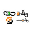 bolt electricity center infinity set vector image vector image