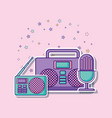 boombox stereo icon vector image vector image