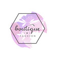 boutique fashion logo badge for clothes shop vector image vector image