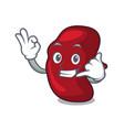 call me spleen mascot cartoon style vector image vector image