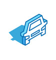 car isometric icon transportation service vector image