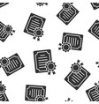 certificate icon seamless pattern background vector image vector image