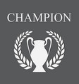 champion gray vector image