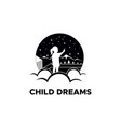 child dreams vector image