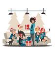 christmas family family characters and christmas vector image