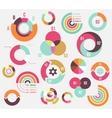 Circle charts vector image