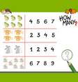 counting game with animals vector image vector image