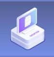 desktop or pc 3d icon digital gadget flat vector image vector image