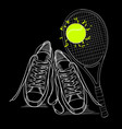 drawing isolated objects sneakers vector image