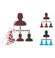 dust pixel halftone people hierarchy icon vector image vector image