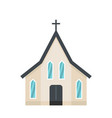 easter church icon flat style vector image vector image