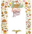 easter menu card vector image vector image