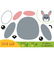 education paper game for children rabbit vector image vector image
