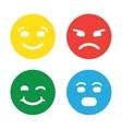 Feedback in form of emotions smileys emoji vector image vector image
