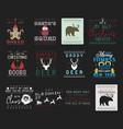 funny christmas graphic prints set t shirt vector image vector image
