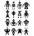 Funny robot icons set vector image vector image