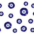 glass evil eye symbol seamless pattern on white vector image