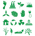 Go green ecology icons set vector image