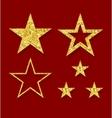 golden figure stars vector image