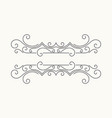 hand drawn decorative border vector image vector image