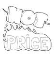 Hot price icon outline style vector image vector image