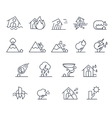 House Insurance Icon Set in Linear Style vector image