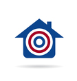 House with target logo vector image vector image