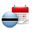 Icon of national day in botswana vector image vector image