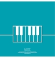 Icon piano keys vector image vector image
