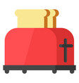 kitchen toaster icon vector image vector image