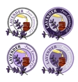 Lavender Set of essential oil labels vector image vector image