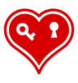locked heart icon simple style vector image