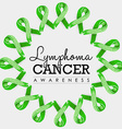 Lymphoma cancer awareness ribbon design with text vector image vector image