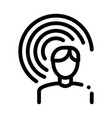 male hearing icon outline vector image vector image