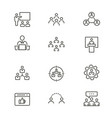 management consulting - line icon set vector image vector image