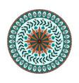 mandala flowers in colors vector image vector image