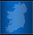 map of ireland with circle dot vector image vector image