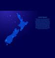 new zealand map abstract schematic from blue vector image vector image